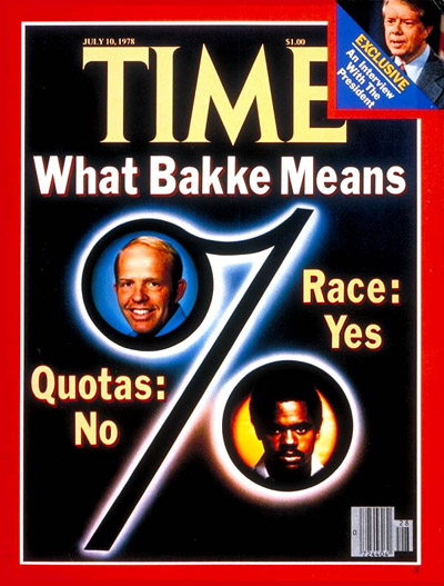an examination of the supreme court ruling in the case of the university of california v bakke Regents of the university of california v bakke, 438 us 265 (1978) was a landmark decision by the supreme court of the united statesit upheld affirmative action, allowing race to be one of several factors in college admission policy.