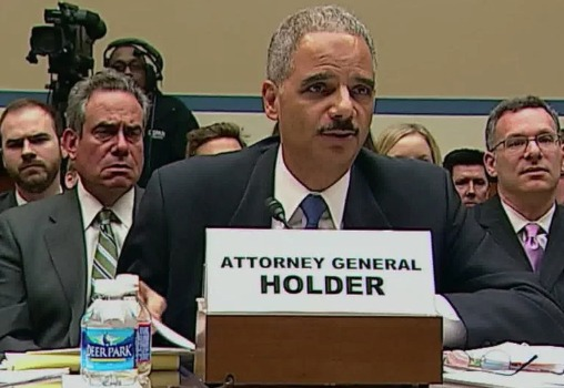 Attorney General Eric Holder testifies at Fast and Furious hearing