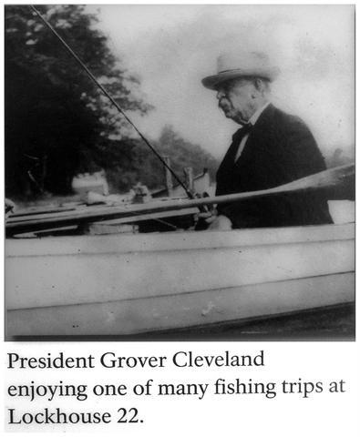 president grover cleveland fishing