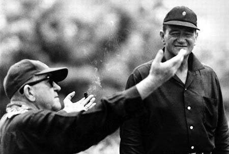 Director John Ford and actor John Wayne