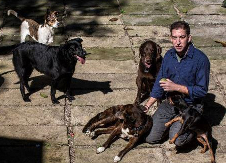 glenn greenwald and rescued dogs